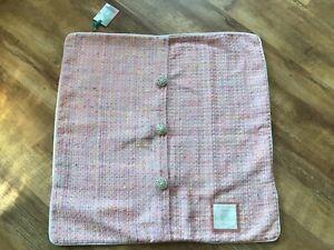 2 X Large Pink Tweed Cushion Covers By Mellelagio Palace Amalfi BNWT !