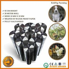 20 METERS ROLL WELDED WIRE MESH GRADEN PET CHICKEN COOP AVIARY FENCING 10MM