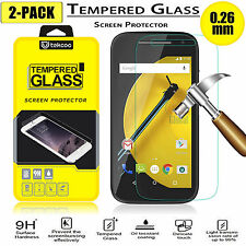 2-Pack Premium Tempered Glass Film Screen Protector For Motorola Moto E 2nd Gen