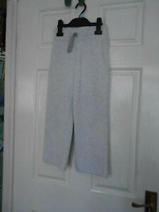 7101 Next, grey, age 7 years, girls sweat pants, drawstring waist, cotton blend