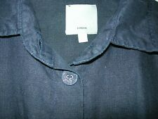 WALL OF LONDON NAVY LINEN BLOUSE O/S (22)