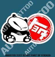 PANDA TEQ Decal Sticker Retro Vintage JDM DRIFT RALLY DECALS STICKERS