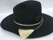 Stetson Solid Black Rodeo Cowboy Junior Hat Youth One Size Horsehair hat band