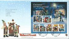 GB FDC Christmas Wallace & Gromit Mini Sheet 2010 Bethlehem Postmark