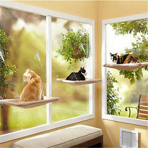 Cat Kitty Basking Window Hammock Hanging Shelf Seat Mounted Perch Cushion Bed FT