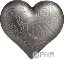 SILVER HEART Shape 1 Oz Silver Coin 5$ Palau 2018