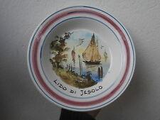 Piatto ceramica LIDO DI JESOLO VE dipinto a mano 1980