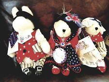 NABCO Abearicana Muffy Hoppy Paul Revere Betsy Ross & Muffy Yankee Doodle