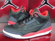 2014 Nike Air Jordan Retro 3 III SZ 10.5 Crimson Red Black 3M 136064-004