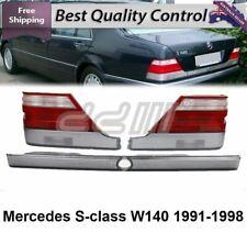 1995-1999 Mercedes Benz W140 S Class Rear Lamps Tail Lights Trunk Piece 4 DOORS