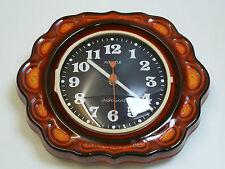 70er Jahre KIENZLE WANDUHR chronoquartz orange rot / space age wall clock 70s