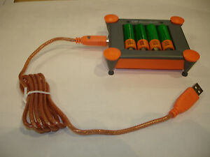 CARGADOR PILAS DESDE PUERTO USB + 4 AA 1800 mAh GP