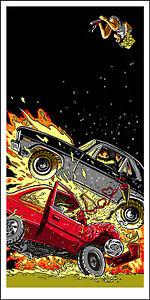 "DEATH PROOF-""1971 Chevy Nova"" silkscreen print by Tim Doyle Nakatomi Artist"