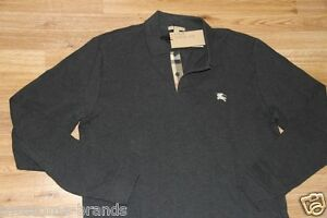 NWT Burberry Brit Men Gray Nova ChecK Polo Shirt Medium M Fits big