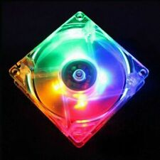 80x80x25mm 8cm 4pin 12V Multi-color LED PC Computer Case Cool Cooling Cooler Fan