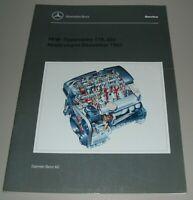 Werkstatthandbuch Mercedes Motor R 170 SLK / C-Klasse W 202 Buch Stand 12/1997