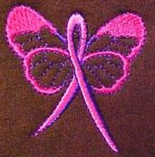 Breast Cancer Awareness Pink Ribbon Butterfly Brown Crew Neck Sweatshirt Large
