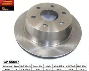 Disc Brake Rotor-RWD Rear Best Brake GP55067