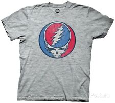 Grateful Dead- Steal Your Face T-Shirt L - Athletic Heather