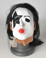 Vintage 1997 KISS Paul Stanley Latex Mask NEW with Tags Full Head Rare
