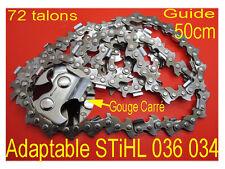 tronconneuse chaine 72 maillons 1.6 GUIDE 50 cm pour STIHL 034 036 038 039 029