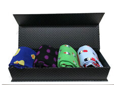 Gift Box with 4 Pairs of Funny Novelty Odd Socks - Perfect Gift Idea