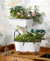 Distressed Vintage Sink or Claw Feet Tub Garden Wall or Free Standing Planters