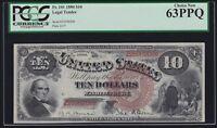 US 1880 $10 Jackass Legal Tender FR 105 PMG 63 PPQ Ch CU (-208)