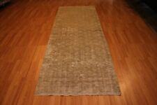 """Hand-Made 3'6"""" x 9'6"""" Hand-Knotted Overdye Wool Area Rug Hand-Knotted Wool 10..."""