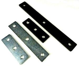 2x 6 mm dicke Stahl Lochplatte Lasche mit 2x M10 Schrauben Muttern Scheiben