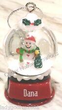 Personalized Snow Globe Ornament - Dana - FREE Shipping