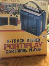 Vintage Realistic 8-Track Stereo Portiplay Cartridge Player