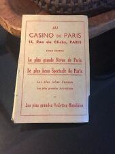 Rare Vintage Casino de Paris 16 Rue de Clichy 1930's Souvenir 4 Nude Photo Cards