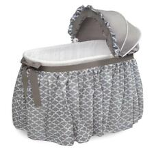 Basket Wishes Oval Bassinet - Full Length Skirt - Gray/Lantern, Badger