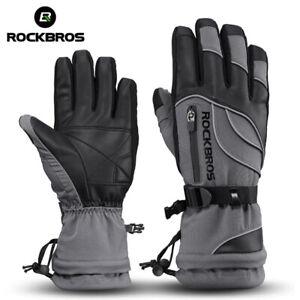 RockBros Winter Ski Gloves Warm Sports Gray Waterproof Gloves