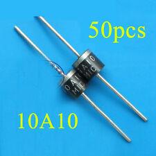 50pcs 10A10 10 Amp 1000V 10A 1KV Axial Rectifier Diode MIC