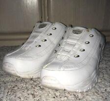SKECHERS 19010 Sport Leather Backless Slide Athletic Shoes~White~Size 9 US, 6 UK