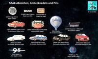 SAAB Anstecknadeln + Pins , badges, stick pins 1960er bis 2010er J. AUSSUCHEN