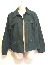 Studio Works Womens  Green Top / Jacket Petite Sz 12P