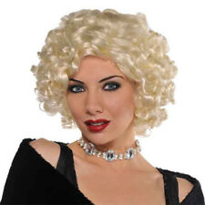 BLONDE CURLY ROXIE WIG ~ Birthday Party Supplies Halloween Costume Cosplay Adult