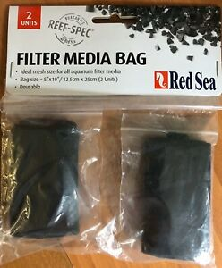 "Reusable Red Sea Filter Media Bag 5"" x 10"" 2pk  Free Shipping"