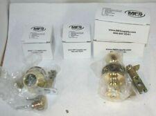 2 Sets Door Knob Dead Bolt-Polished Brass Entry Mfs Supply Nib kEyed Alike