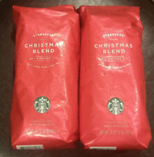 2x RARE Starbucks 2017 Vintage Christmas Blend Whole Bean Coffee (1 LB / Bag)