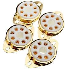 4Pcs 8Pin Ceramic Socket Tube Top Vacuum Octal Value For KT88 EL34 6V6 274B