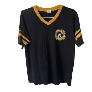 Hines Ward Pittsburgh Tavern 86 Sports Bar Short Sleeve Ringer T Shirt Sz Large