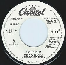 RICHFIELD Disco Sucks ((**NEW-UNPLAYED 45 DJ**)) from 1979