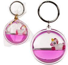 Floating Unicorn Pink Metal Keyring Key Chain Kids Toy Gift Stocking Filler