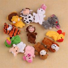 12× Karikatur FINGERPUPPEN Stofftiere Zoo Tiere Set Handspielpuppe Handpuppe*~