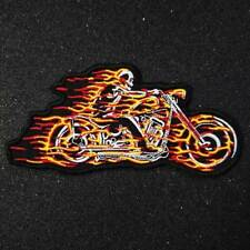 GHOST RIDER ON FLAMING  MOTORCYCLE  SEW OR IRON ON  PATCH