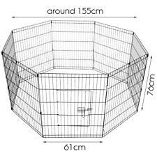 8 Panel Wire Metal Portable Folding Pet Dog Puppy Rabbit Playpen  Cage Fence Run